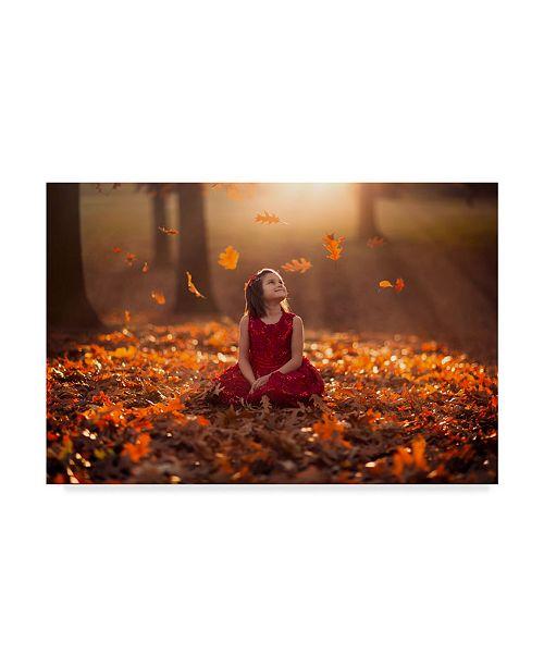 "Trademark Global Jake Olson 'Autumn Magic Children' Canvas Art - 24"" x 2"" x 16"""