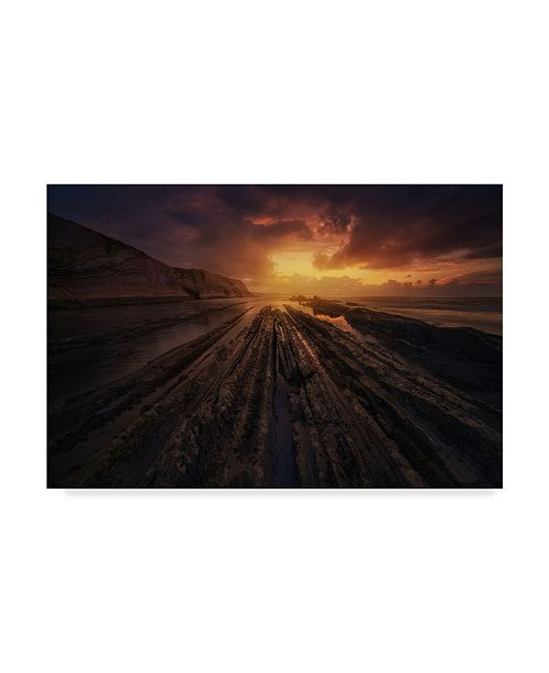 "Trademark Global Miguel Angel Martin 'Convergence Sunset' Canvas Art - 32"" x 2"" x 22"""