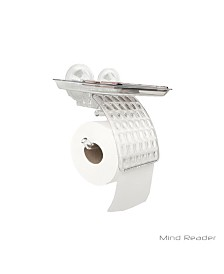 Mind Reader Toilet Paper Holder with Phone Bed Tray