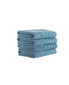 Classic Turkish Towels Antalya 4 Piece Luxury Turkish Cotton Bath Towel Set
