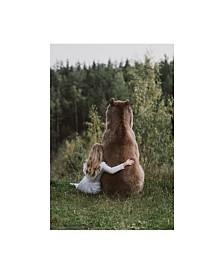 "Olga Barantseva 'Bear Friend' Canvas Art - 30"" x 2"" x 47"""
