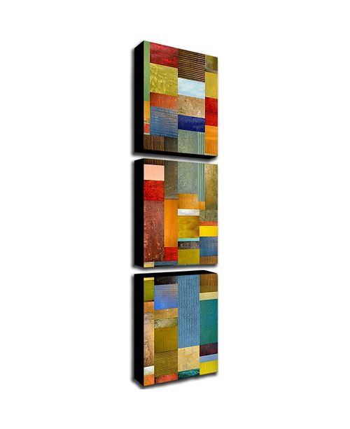 """Trademark Global Michelle Calkins 'Color Panels with Blue Sky' Canvas Art - 24"""" x 32"""" x 2"""""""
