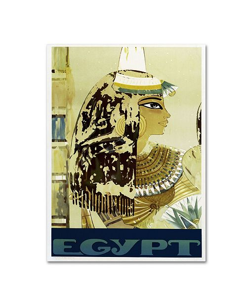 "Trademark Global Vintage Apple Collection 'Visit Egypt Cleopatra' Canvas Art - 22"" x 32"" x 2"""