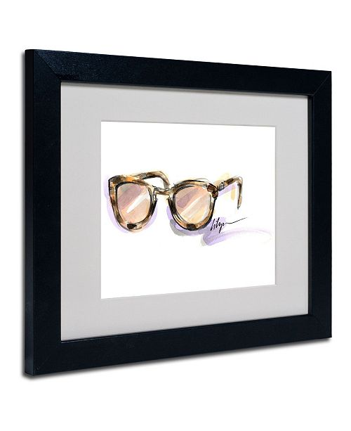 "Trademark Global Jennifer Lilya 'Always Sunny' Matted Framed Art - 14"" x 11"" x 0.5"""