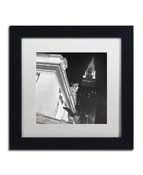 """Trademark Global Moises Levy 'New York 003' Matted Framed Art - 11"""" x 11"""" x 0.5"""""""