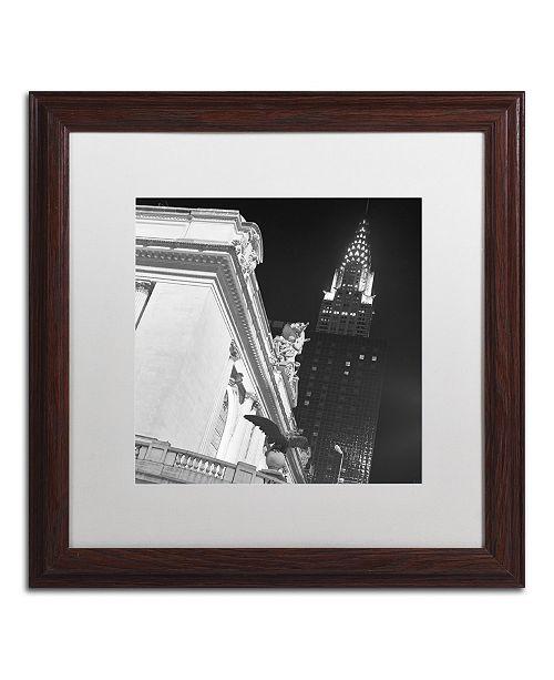 """Trademark Global Moises Levy 'New York 003' Matted Framed Art - 16"""" x 16"""" x 0.5"""""""