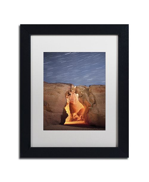 "Trademark Global Moises Levy 'Flame' Matted Framed Art - 11"" x 14"" x 0.5"""