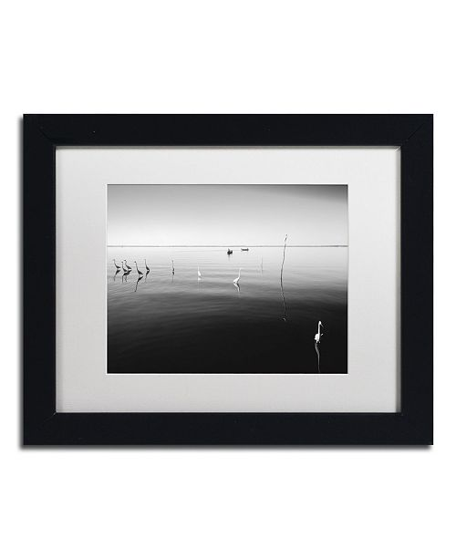 "Trademark Global Moises Levy '11 Herons' Matted Framed Art - 11"" x 14"" x 0.5"""