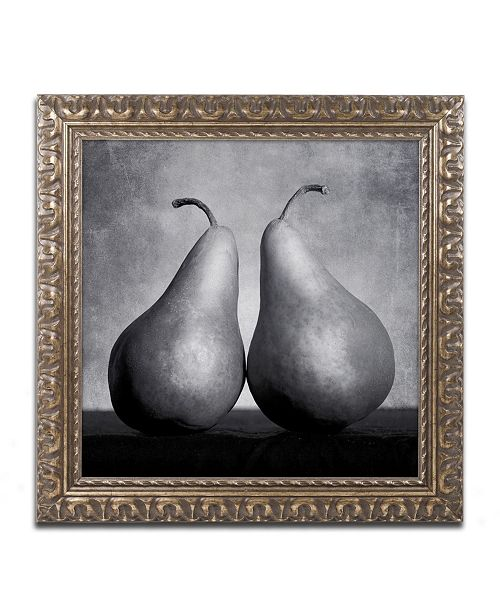 "Trademark Global Moises Levy 'Peras Enamoradas' Ornate Framed Art - 16"" x 16"" x 0.5"""