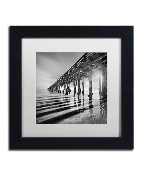 "Trademark Global Moises Levy 'Pier and Shadows' Matted Framed Art - 11"" x 11"" x 0.5"""