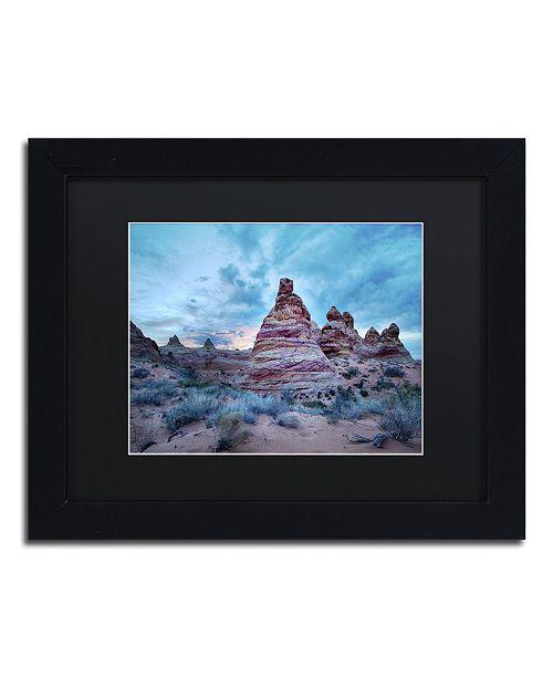 "Trademark Global Moises Levy 'Cottonwood I' Matted Framed Art - 11"" x 14"" x 0.5"""