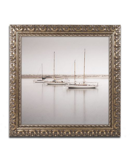 "Trademark Global Moises Levy 'Three Boats' Ornate Framed Art - 16"" x 16"" x 0.5"""