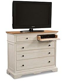 Cottage Solid Wood Small Media Dresser