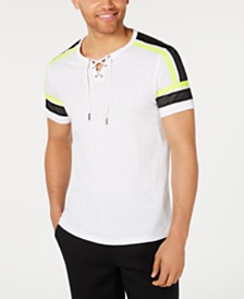 I.N.C. Men's Attila Mesh-Trim T-Shirt, Created for Macy's