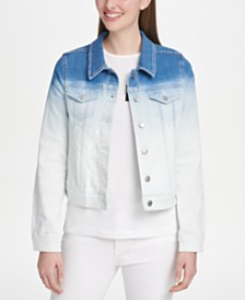 DKNY Ombré Denim Jacket