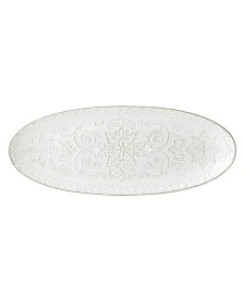 Lenox Global Tapestry Oval Server White