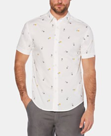 Cubavera Men's Mini Pineapple Graphic Shirt