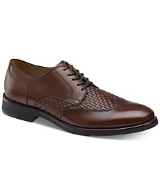 Johnston & Murphy Men's Carlson Woven Wingtip Oxfords