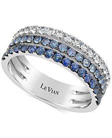 Blueberry Layer Cake Blueberry Sapphires (9/10 ct. t.w.) Ring in 14k White Gold