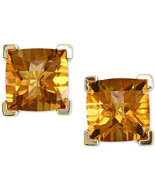 EFFY® Citrine (4-1/5 ct. t.w.) Stud Earrings in 14k Gold