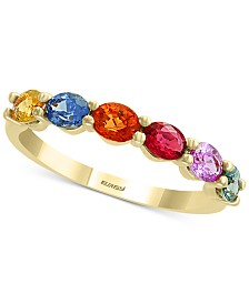 EFFY® Multi-Sapphire (1-3/8 ct. t.w) Ring in 14k Gold