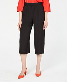 Pull-on Washed Satin Culotte, Created for Macy's