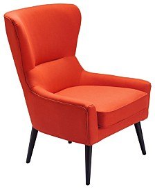 Tommy Hilfiger Auburn Wingback Chair, Quick Ship