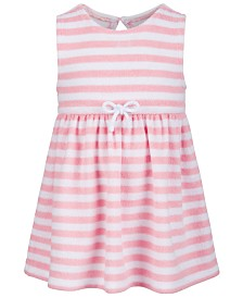 First Impressions Baby Girls Striped French Terry Dress, Created for Macy's