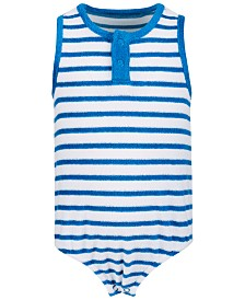 First Impressions Baby Boys or Girls Striped Terry Cotton Romper, Created for Macy's