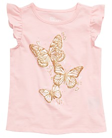 Epic Threads Little Girls Butterfly Graphic Flutter Top, Created for Macy's