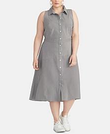 RACHEL Rachel Roy Plus Size Rebecca Shirtdress