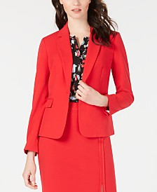 Nine West Single-Button Jacket