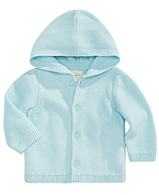 First Impressions Baby Boys Hooded Cotton Cardigan Sweater, Created for Macy's