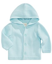 0490a4c64 First Impressions Baby Boys Hooded Cotton Cardigan Sweater, Created for  Macy's