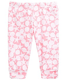 Baby Girl's Seashell Ruched Legging, Created for Macy's