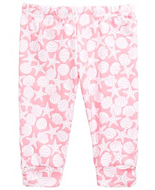 First Impressions Baby Girl's Seashell Ruched Legging, Created for Macy's