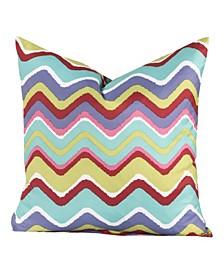 "Mixed Palette 16"" Designer Throw Pillow"