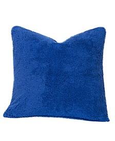 Playful Plush Blueberry Blue Designer Throw Pillow