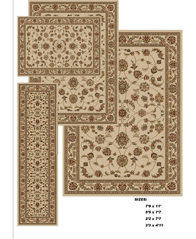 Km Home Florence Isfahan 4 Pc Rug Set