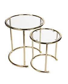 Nested Round End Side Tables - Set of 2