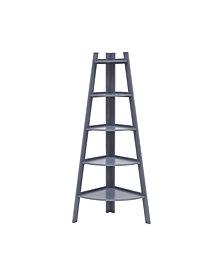 Danya B. Decorative 5-Tier A-Frame Corner Ladder Display Bookcase
