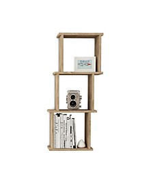 3-Horizontal or Vertical Cube Wall Shelf with Ledges
