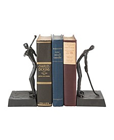Golfers Iron Bookend Set - Golf Home and Office Decor