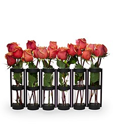 6 Wide Tube Hinged Vases