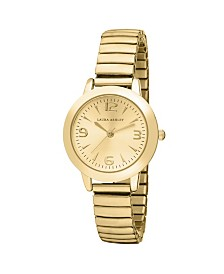 Laura Ashley Gold Stretch Bracelet Watch