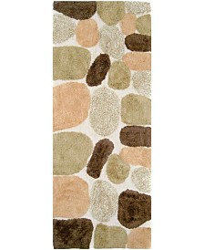 Plush Pebble Patterned Bath Runner
