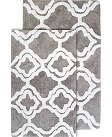 Double Quatrefoil Bath Rug Set