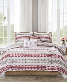 510 Design Neda King/California King 5 Piece Reversible Print Comforter Set