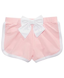 Little Girls Bow Knit Short
