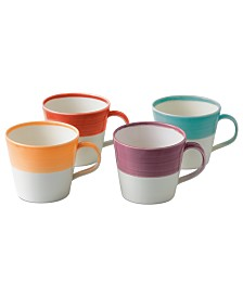 Royal Doulton Dinnerware, Set of 4 1815 Bright Mugs